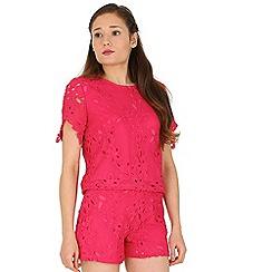 Madam Rage - Pink crotchet shorts