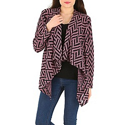 Indulgence - Purple cotton waterfall short cardigan