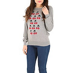 Sugarhill Boutique - Grey cherry sweater