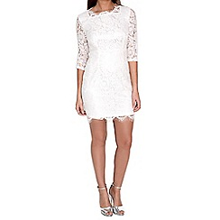 Alice & You - Cream scallop lace dress