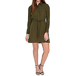 Alice & You - Olive tie waist shirt dress