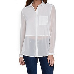 Alice & You - White sheer blouse