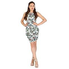 Madam Rage - Multicoloured tropical drape dress