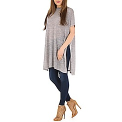 Blue Vanilla - Grey oversized long knit top