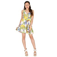 Madam Rage - Multicoloured floral skater dress