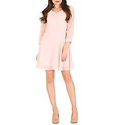 Pussycat London - Pink v neck skater dress