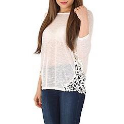 Voulez Vous - Cream side lace oversized top