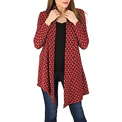 Indulgence - Red oversized cardigan