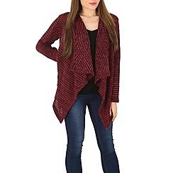 Indulgence - Wine waterfall knit cardigan