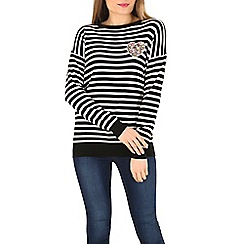 Sugarhill Boutique - Black gertrud heart stripe sweater
