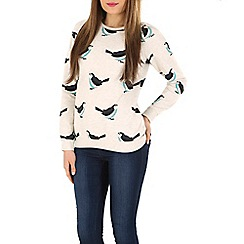 Sugarhill Boutique - Cream birdie sweatshirt