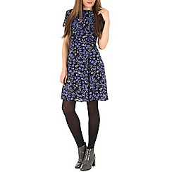 Poppy Lux - Blue rahim floral dress