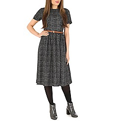 Poppy Lux - Black sinead dot midi dress