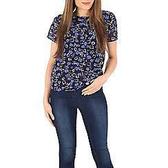 Poppy Lux - Blue london floral top