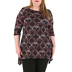 Samya - Multicoloured 3/4 sleeve print tunic top