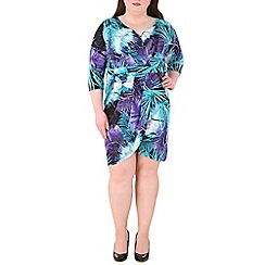 Samya - Purple  patterned wrap dress