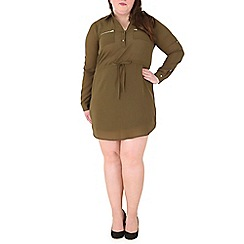 Samya - Olive shirt dress