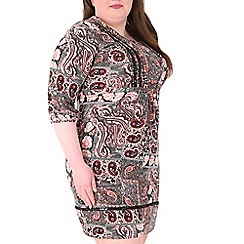 Samya - Pink sequin tunic dress