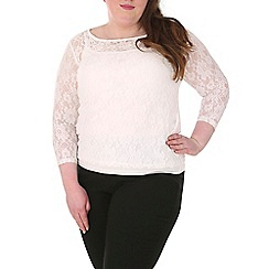 Samya - Cream lace long sleeve top