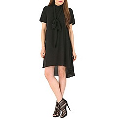 Mela - Black pussybow dress