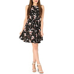 Mela - Black flower print dress
