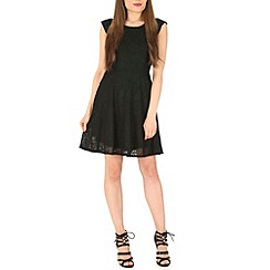 Mela - Black textured dress