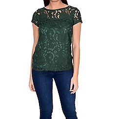 Alice & You - Khaki lace layer tee