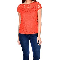 Alice & You - Red lace layer tee