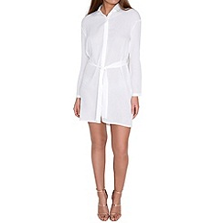 Alice & You - White tie waist shirt dress
