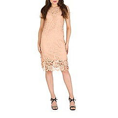 Amaya - Cream cap sleeve lace dress