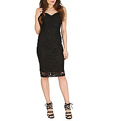 Amaya - Black lace bodycon dress