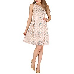Amaya - Cream printed skater dress