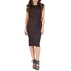 Amaya - Black side ruched dress