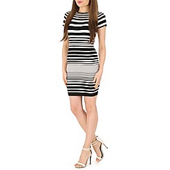 Blue Vanilla - Black striped dress