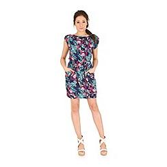Madam Rage - Multicoloured tropical printed dress