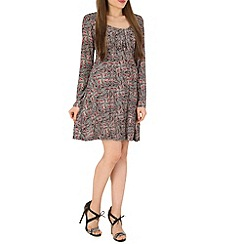 Izabel London - Red folk printed dress