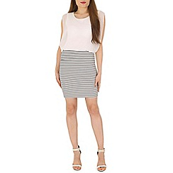 Izabel London - White stripe bottom dress