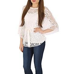 Izabel London - Cream batwing floral top