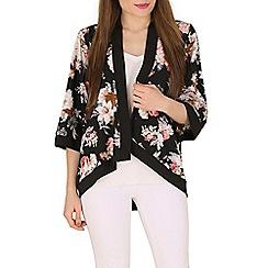 Mela - Black cluster floral kimono