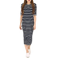 Poppy Lux - Navy octavia stripe bodycon dress