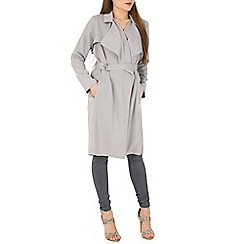 Poppy Lux - Grey winnietrench coat