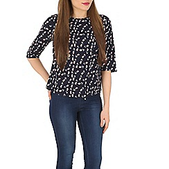 Poppy Lux - Navy kelsey tulip wrap front top