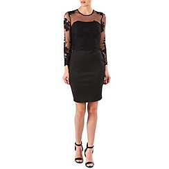 Zibi London - Black sleeved lace dress