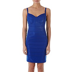Zibi London - Blue striped bodycon dress