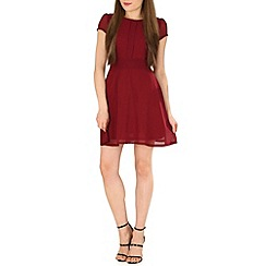 Tenki - Maroon plain chiffon dress