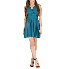 Tenki - Turquoise tie back dress