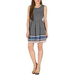 Tenki - Blue geometric print dress