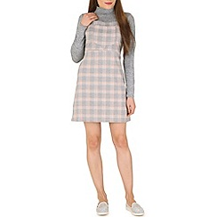 Blue Vanilla - Pink 2 in 1 check pinafore dress