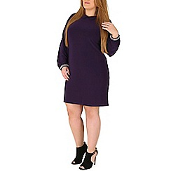 Emily - Purple jewelled cuff collar dress