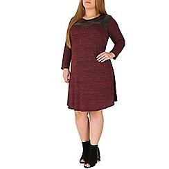 Emily - Purple jersey knitted dress